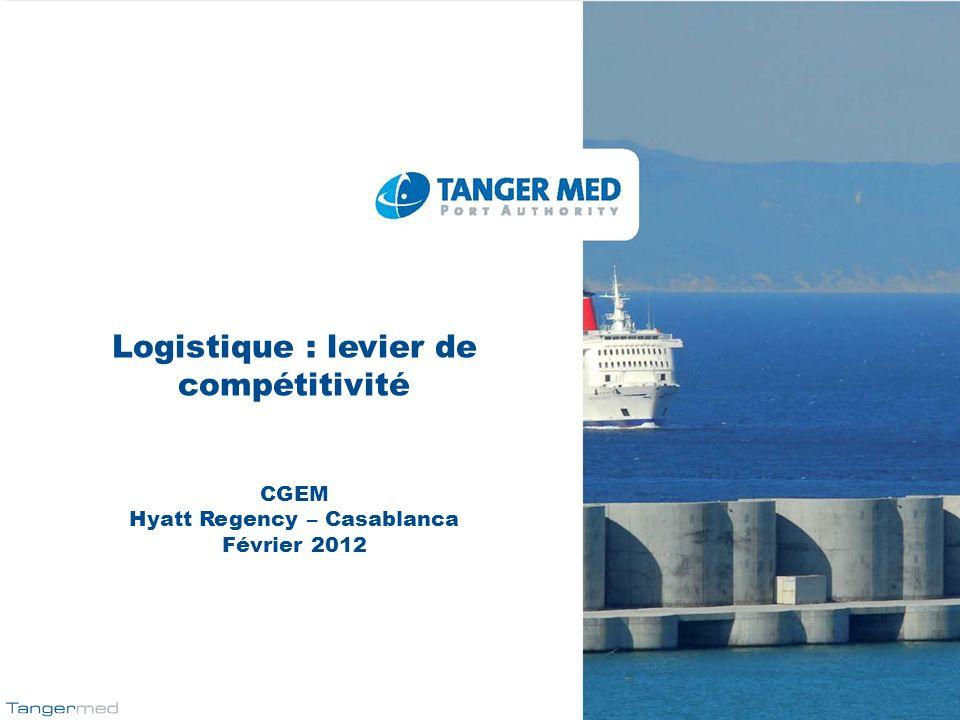 Logistique : levier de compétitivité CGEM Hyatt Regency – Casablanca Février 2012