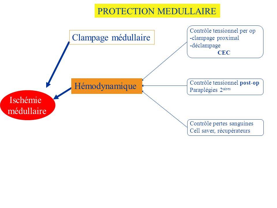 Contrôle tensionnel per op -clampage proximal -déclampage CEC Contrôle tensionnel post-op Paraplégies 2 aires Contrôle pertes sanguines Cell saver, ré
