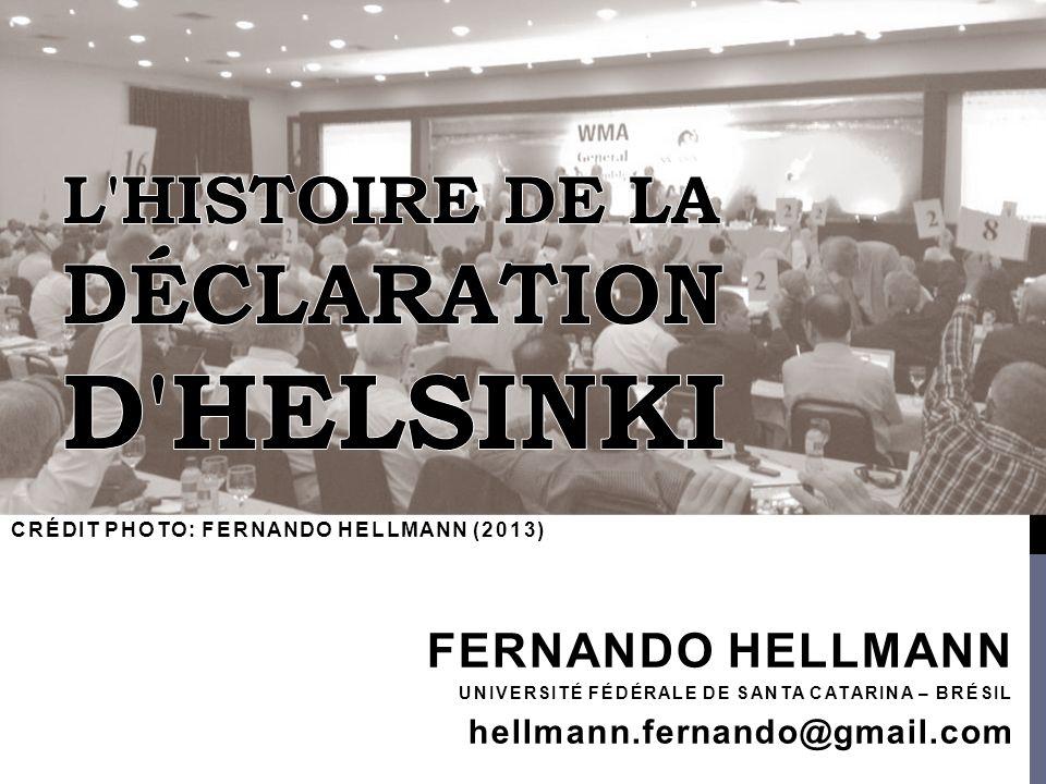 FERNANDO HELLMANN UNIVERSITÉ FÉDÉRALE DE SANTA CATARINA – BRÉSIL hellmann.fernando@gmail.com CRÉDIT PHOTO: FERNANDO HELLMANN (2013)
