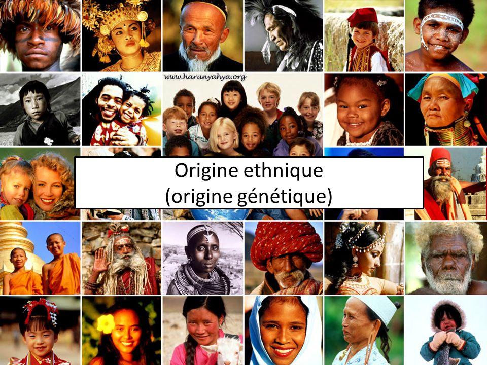Origine ethnique (origine génétique)