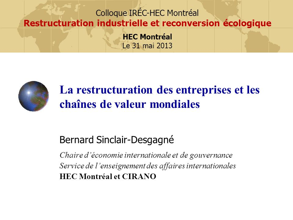 Quelques faits OCDE (2007), Moving up the Value Chain: Staying Competitive in the Global Economy