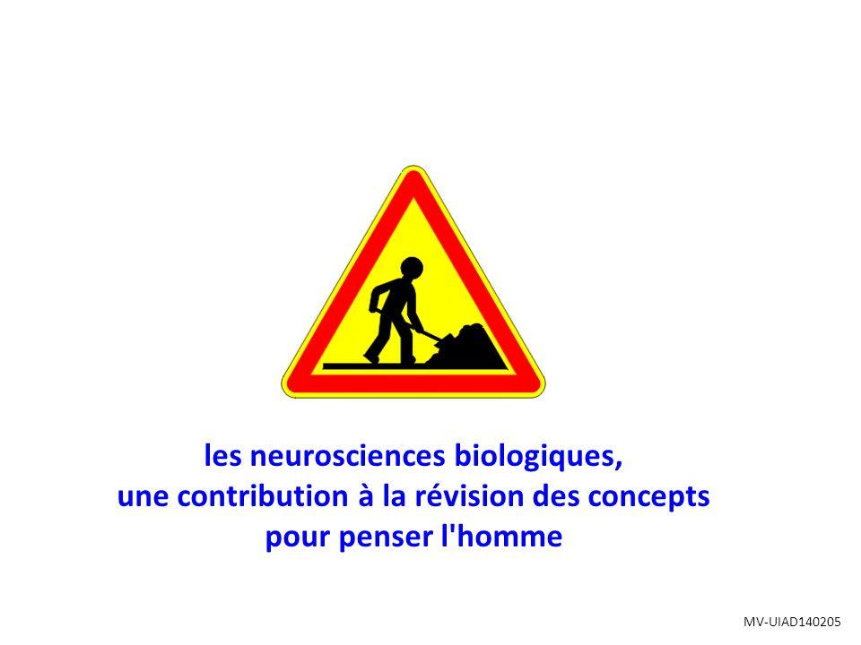 les neurosciences biologiques, une contribution à la révision des concepts pour penser l homme MV-UIAD140205
