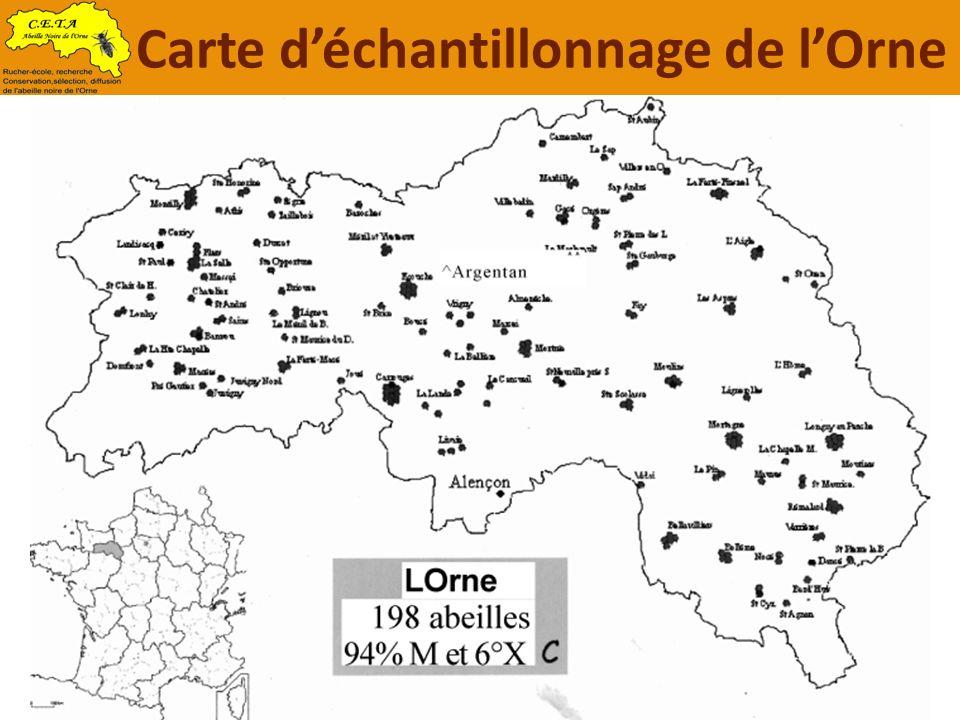 Carte déchantillonnage de lOrne