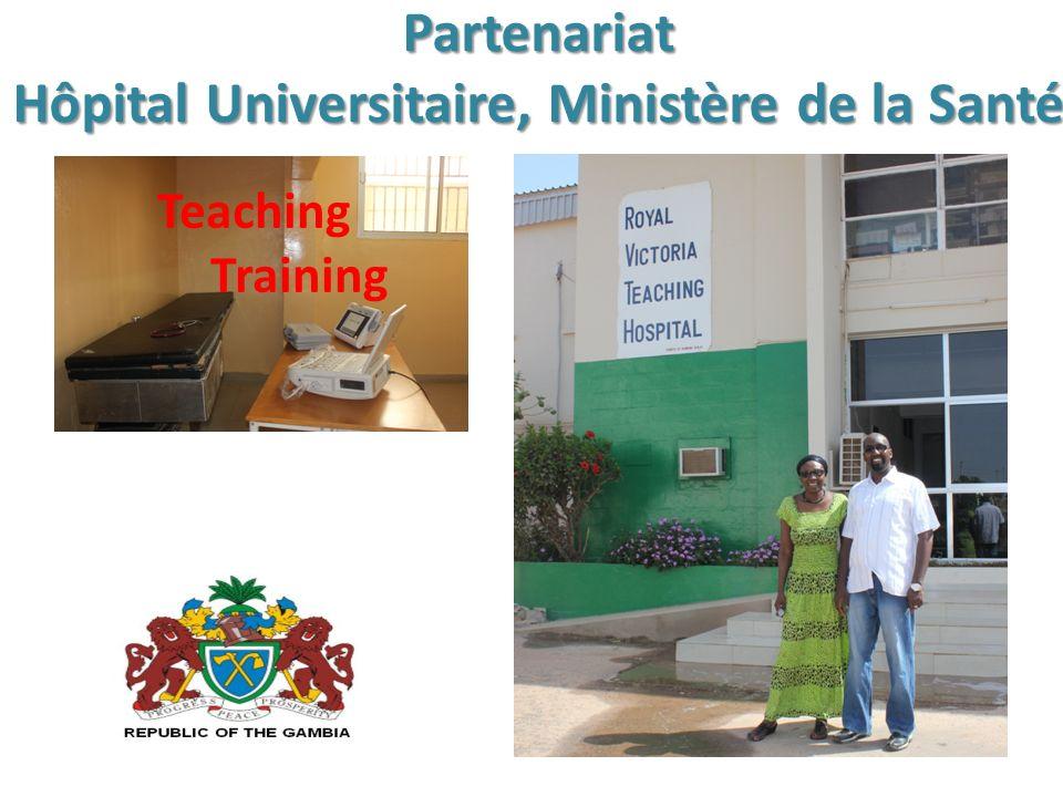 Partenariat Hôpital Universitaire, Ministère de la Santé Teaching Training