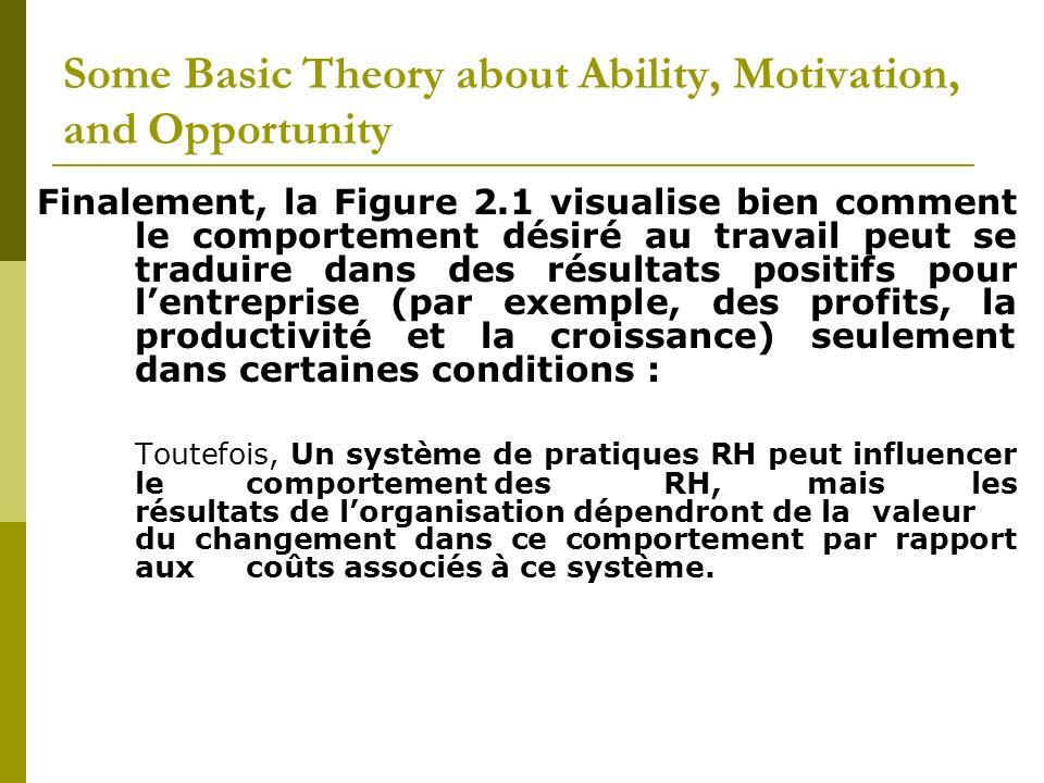 Exemple 2.Le fait daméliorer la motivation des employés à être plus présents.