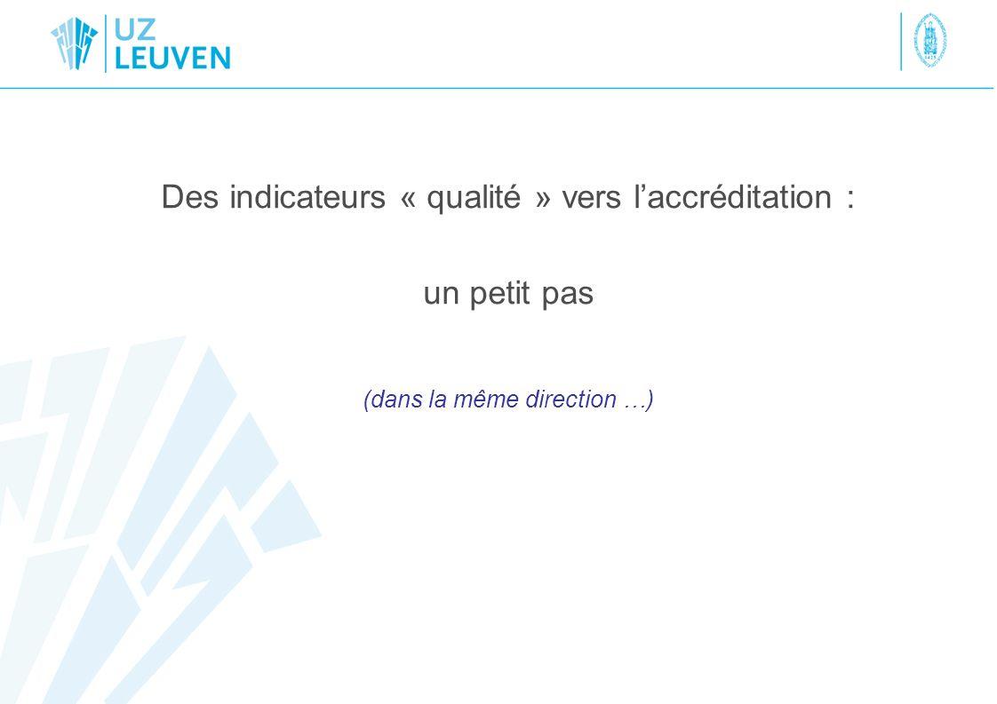 Accréditation par la Joint Commission International Principes de base Processus de laccréditation Relation avec indicateurs « qualité »
