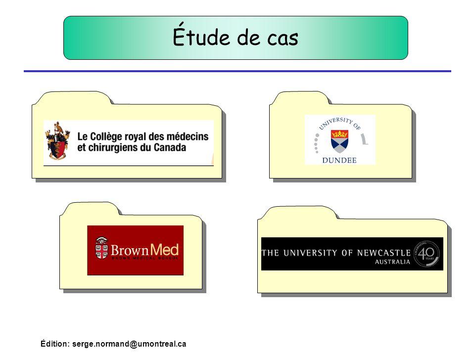 Pour en savoir plus … Diaporama Bibliographie www.medbev.umontreal.ca/docimo Rubrique: Dossier compétences serge.normand@umontreal.ca Approche par compétences