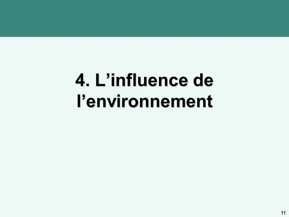 4. Linfluence de lenvironnement 11