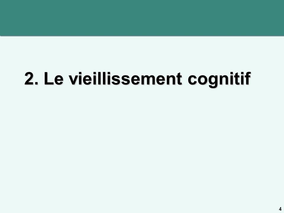2. Le vieillissement cognitif 4
