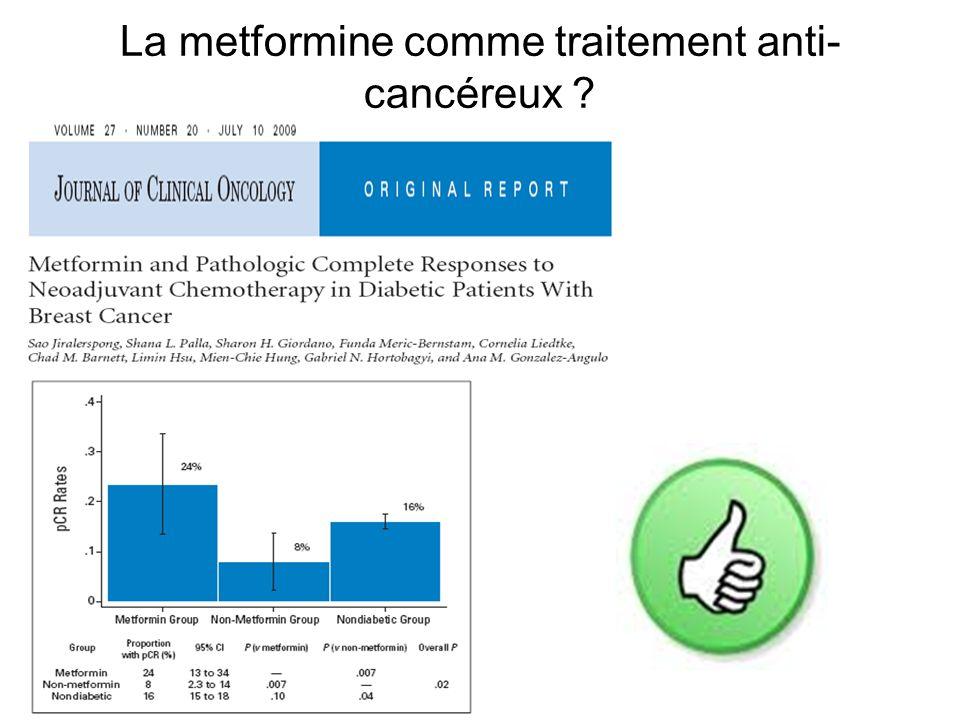 La metformine comme traitement anti- cancéreux ?