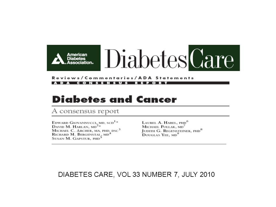 DIABETES CARE, VOL 33 NUMBER 7, JULY 2010