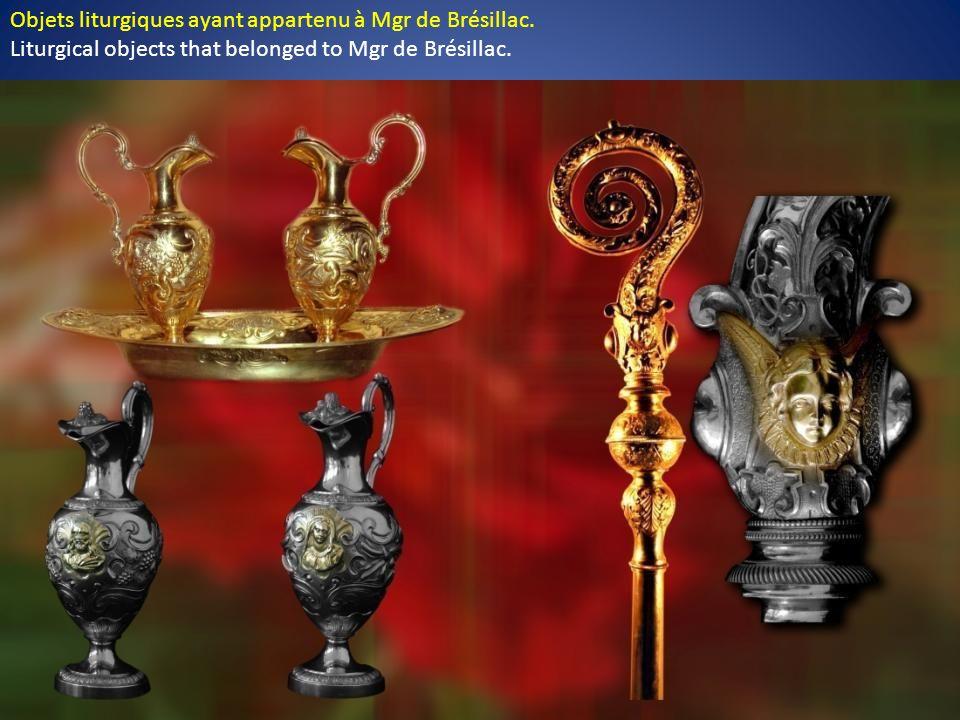 Le calice de Mgr de Brésillac. Il est orné de trois médaillons, représentant chacun une des Personnes de la Sainte Trinité. The chalice of Mgr de Brés