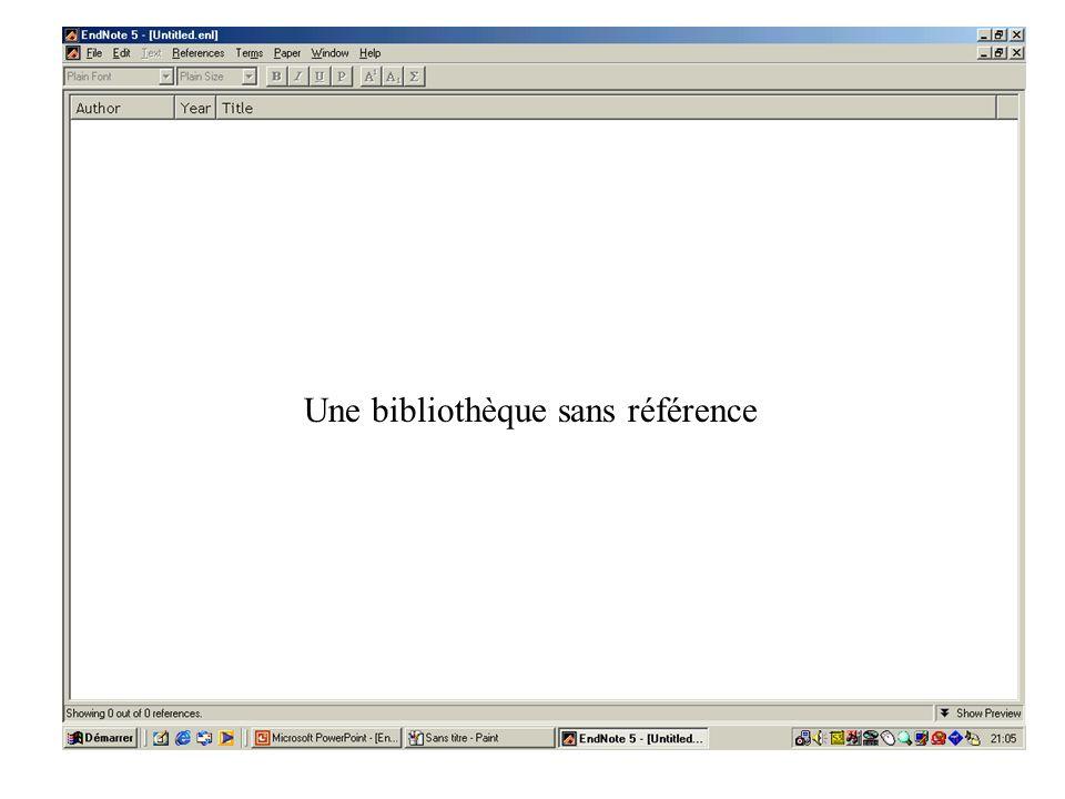 Une bibliothèque sans référence