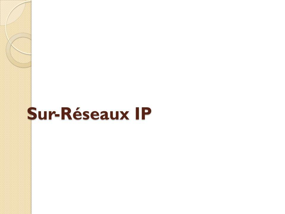 Sur-Réseaux IP