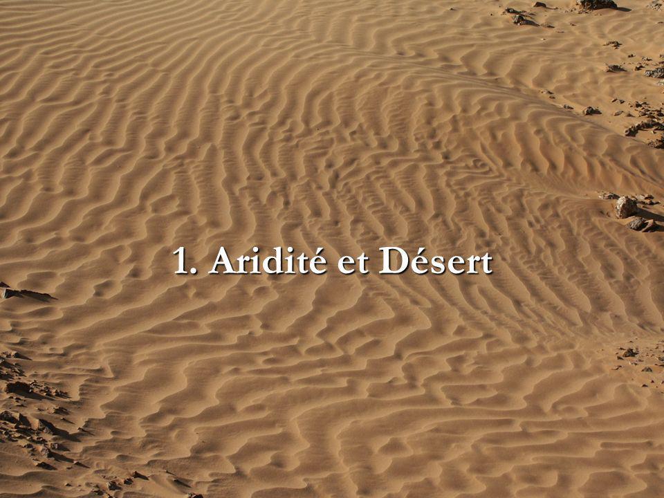 3.6 Variations séculaires Variations Interannuelles : Variations séculaires nécessité de longues séries de mesure Aridité & Désert 3.