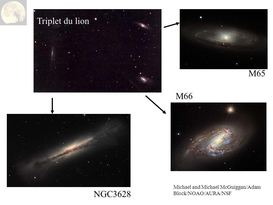 Michael and Michael McGuiggan/Adam Block/NOAO/AURA/NSF Triplet du lion NGC3628 M65 M66