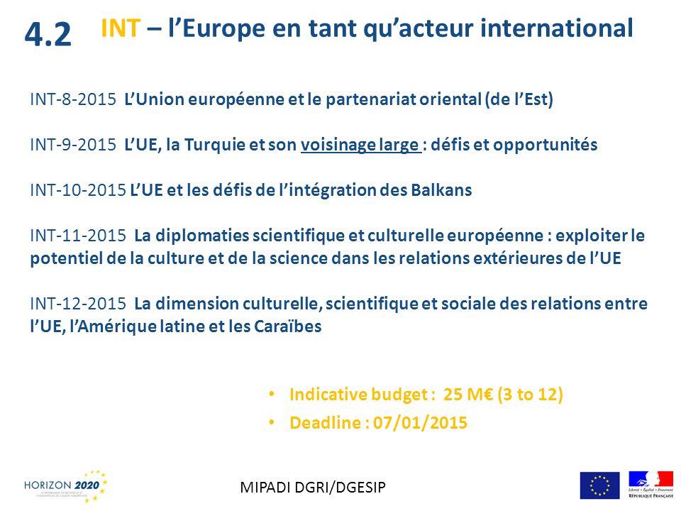 INT-8-2015 LUnion européenne et le partenariat oriental (de lEst) INT-9-2015 LUE, la Turquie et son voisinage large : défis et opportunités INT-10-201