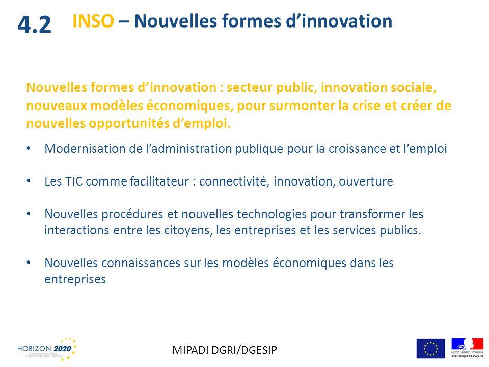 INSO – Nouvelles formes dinnovation Nouvelles formes dinnovation : secteur public, innovation sociale, nouveaux modèles économiques, pour surmonter la