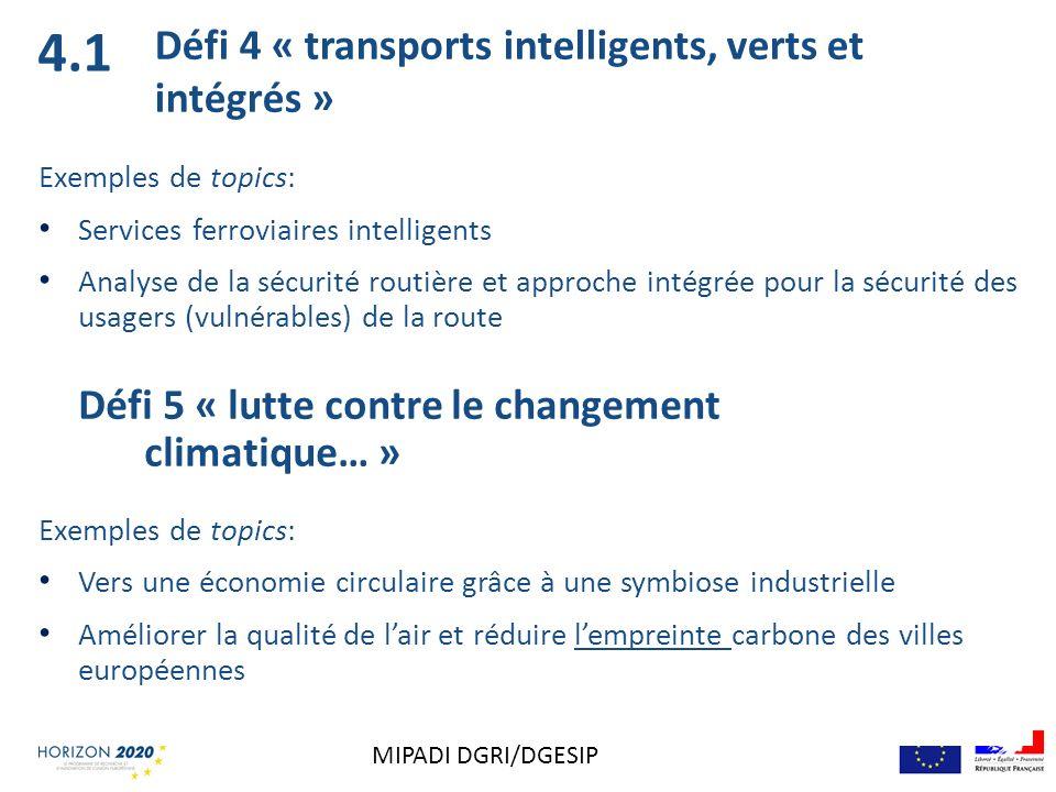 Exemples de topics: Services ferroviaires intelligents Analyse de la sécurité routière et approche intégrée pour la sécurité des usagers (vulnérables)