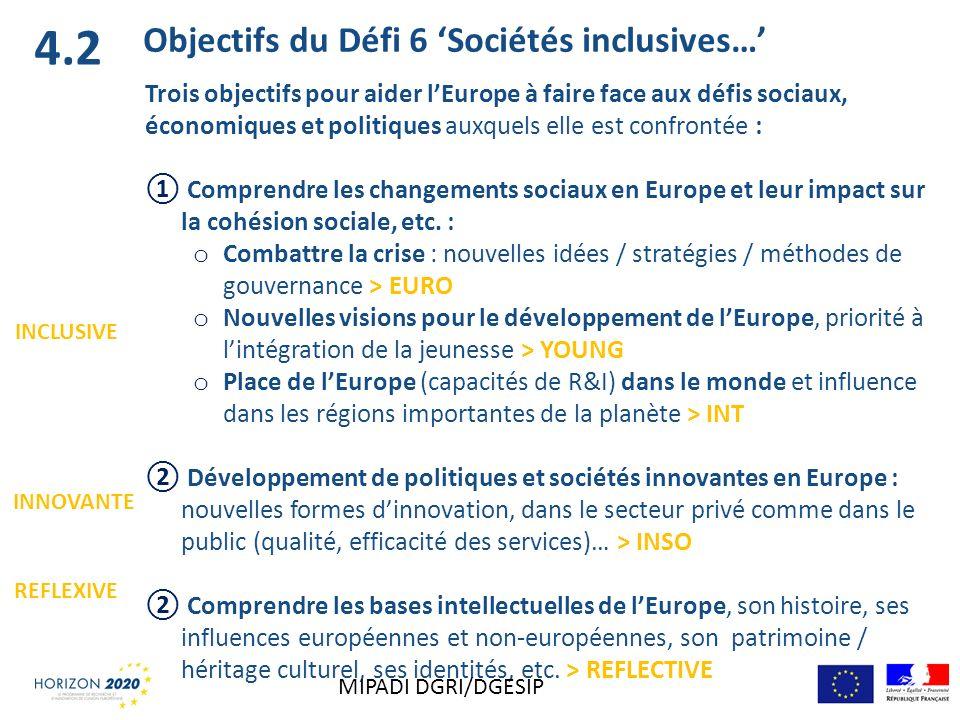 Trois objectifs pour aider lEurope à faire face aux défis sociaux, économiques et politiques auxquels elle est confrontée : Comprendre les changements