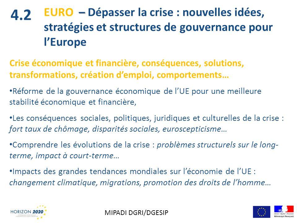 Crise économique et financière, conséquences, solutions, transformations, création demploi, comportements… Réforme de la gouvernance économique de lUE