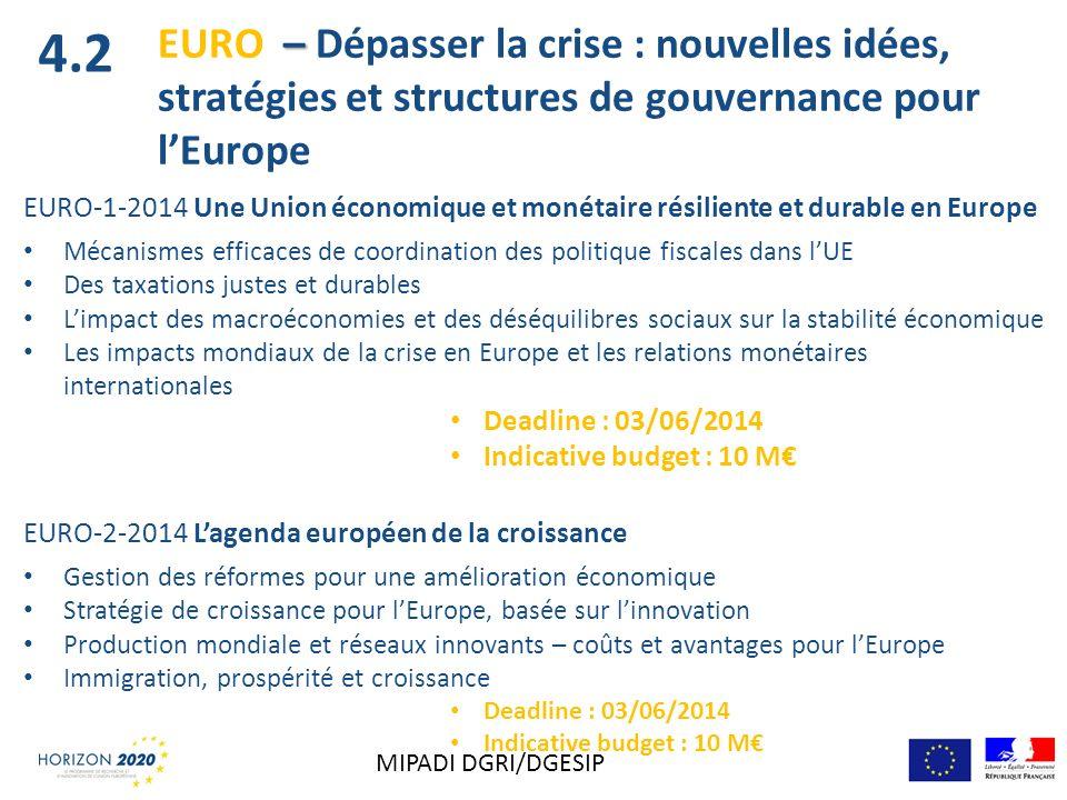 EURO-1-2014 Une Union économique et monétaire résiliente et durable en Europe Mécanismes efficaces de coordination des politique fiscales dans lUE Des