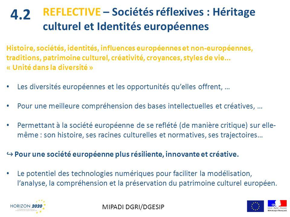 REFLECTIVE – Sociétés réflexives : Héritage culturel et Identités européennes Histoire, sociétés, identités, influences européennes et non-européennes