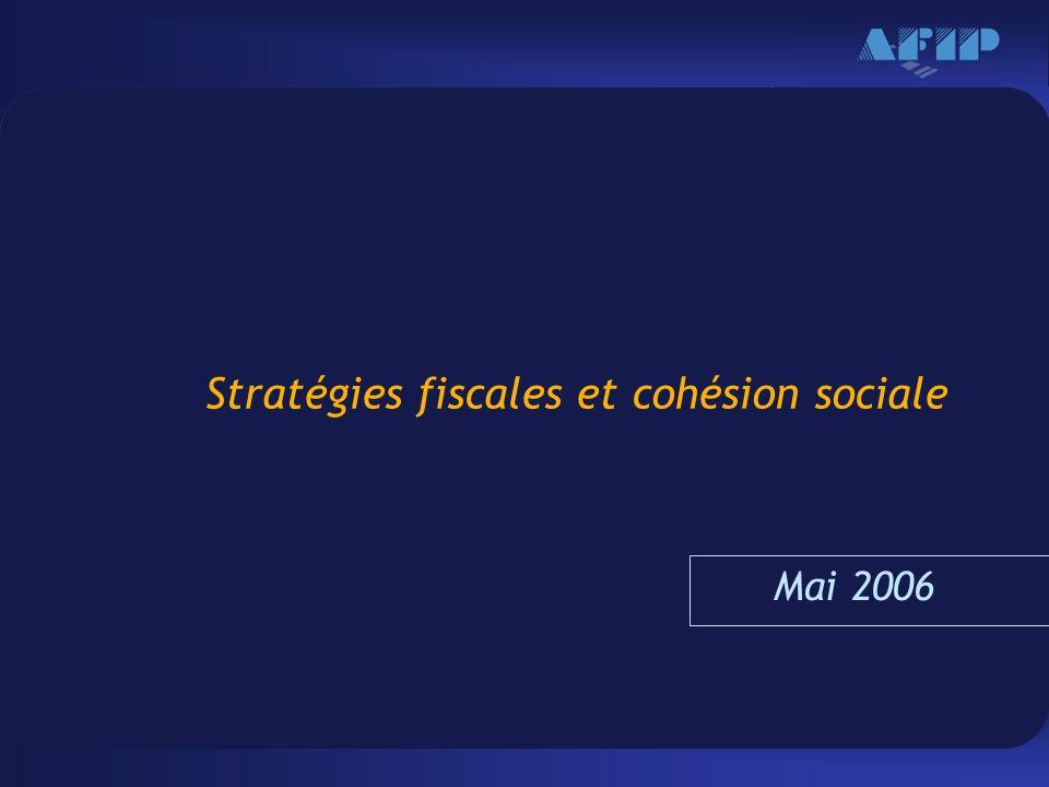 Haga clic para modificar el estilo de texto del patrón –Segundo nivel Tercer nivel –Cuarto nivel »Quinto nivel 1 Stratégies fiscales et cohésion sociale Mai 2006