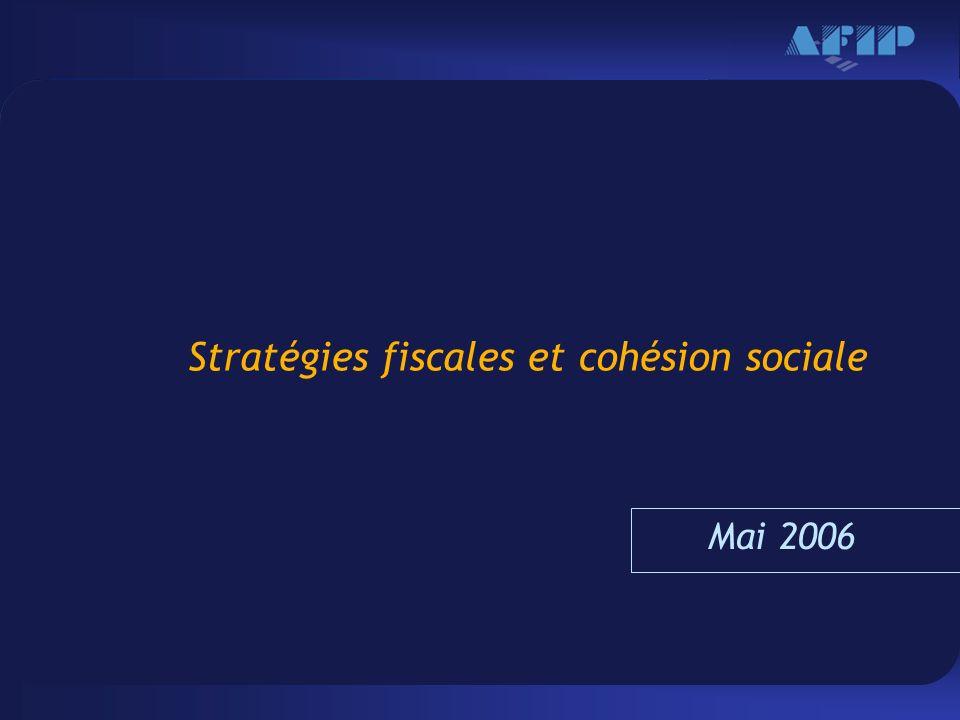 Haga clic para modificar el estilo de texto del patrón –Segundo nivel Tercer nivel –Cuarto nivel »Quinto nivel 16 Stratégies fiscales et cohésion sociale Mai 2006