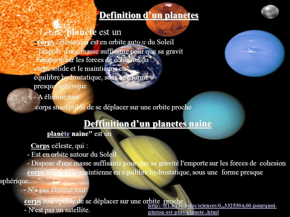 http://tf1.lci.fr/infos/sciences/0,,3325304,00-pourquoi-pluton-est-plus-planete-.html 1. Une planète est un - corps céleste, qui est en orbite autour