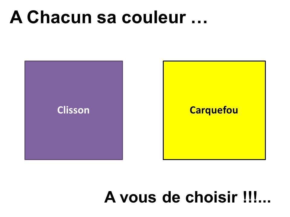 A Chacun sa couleur … ClissonCarquefou A vous de choisir !!!...