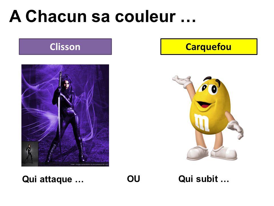 A Chacun sa couleur … ClissonCarquefou OU Qui attaque … Qui subit …