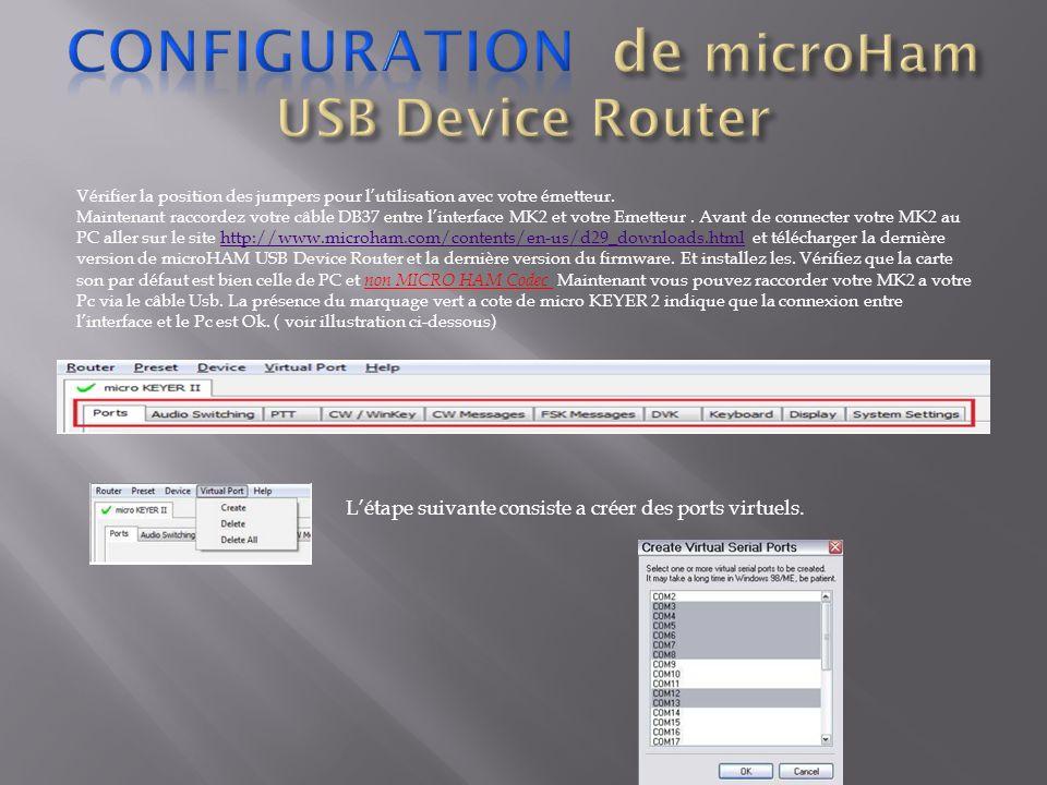 Vérifier la position des jumpers pour lutilisation avec votre émetteur. Maintenant raccordez votre câble DB37 entre linterface MK2 et votre Emetteur.