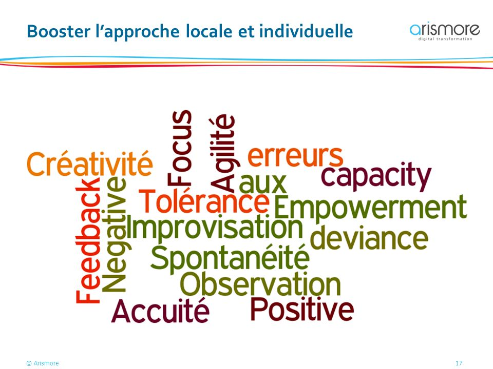 © Arismore17 Booster lapproche locale et individuelle