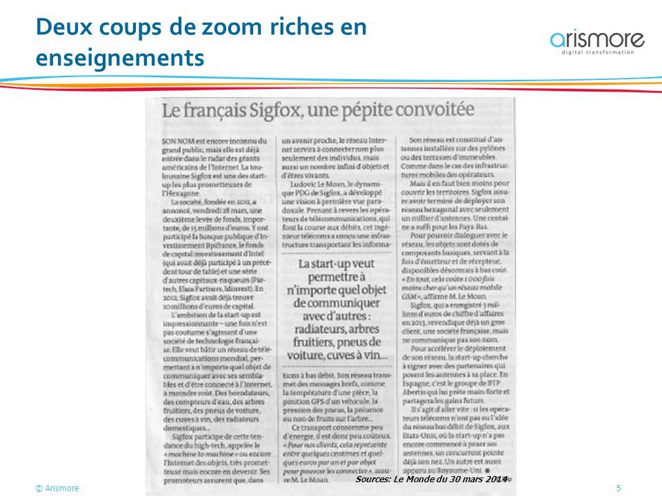 © Arismore5 Deux coups de zoom riches en enseignements Sources: Le Monde du 30 mars 2014