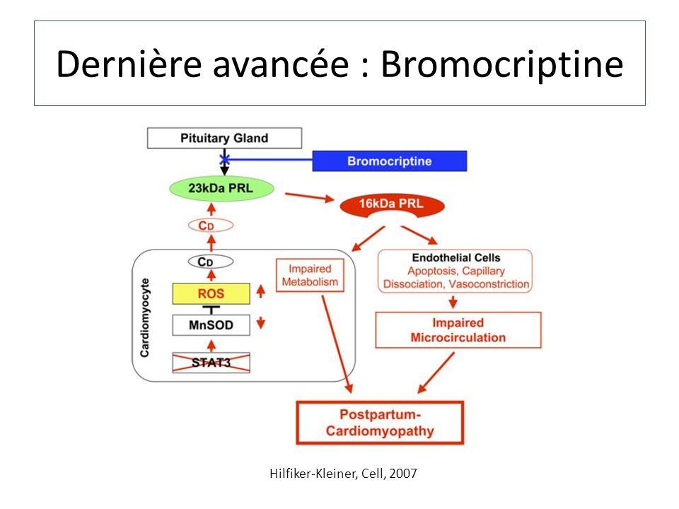 Dernière avancée : Bromocriptine Hilfiker-Kleiner, Cell, 2007
