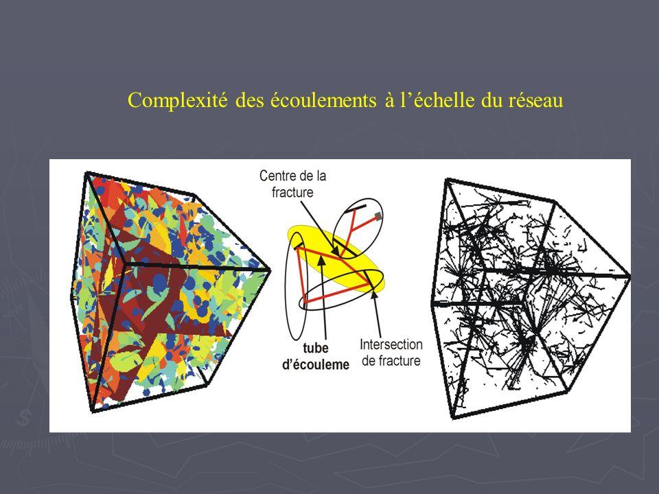 Complexité des écoulements à léchelle de la fracture Origine de la complexité Grand nombre dintersections.