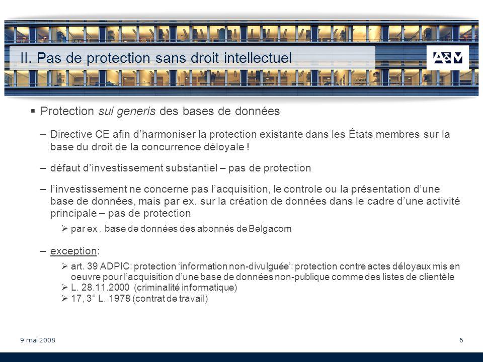 9 mai 200817 Vincent Wellens Avocat barreau de Bruxelles Chercheur associé au Centre de Droit de la Consommation (Université Catholique de Louvain) 14, rue Erasme L - 1468 Luxembourg Tél.