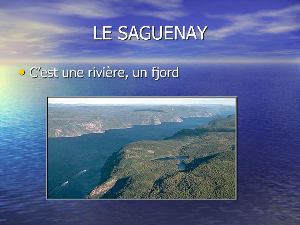 LE SAGUENAY Cest une rivière, un fjord Cest une rivière, un fjord