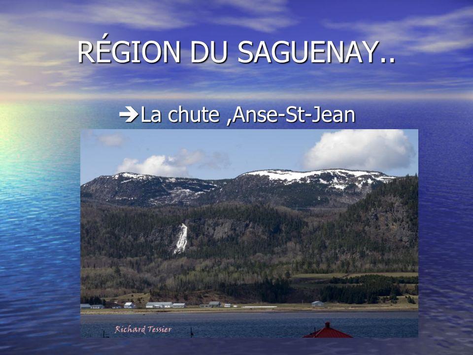 RÉGION DU SAGUENAY.. La chute,Anse-St-Jean La chute,Anse-St-Jean