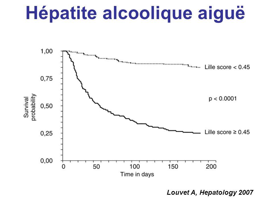 Louvet A, Hepatology 2007 Hépatite alcoolique aiguë
