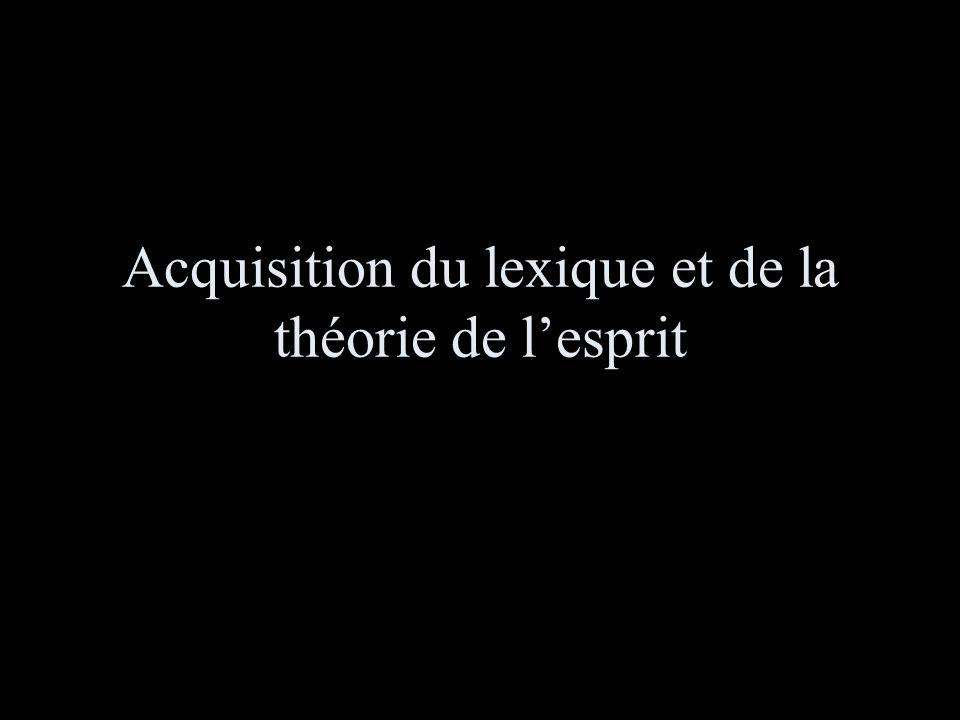 Acquisition du lexique et de la théorie de lesprit