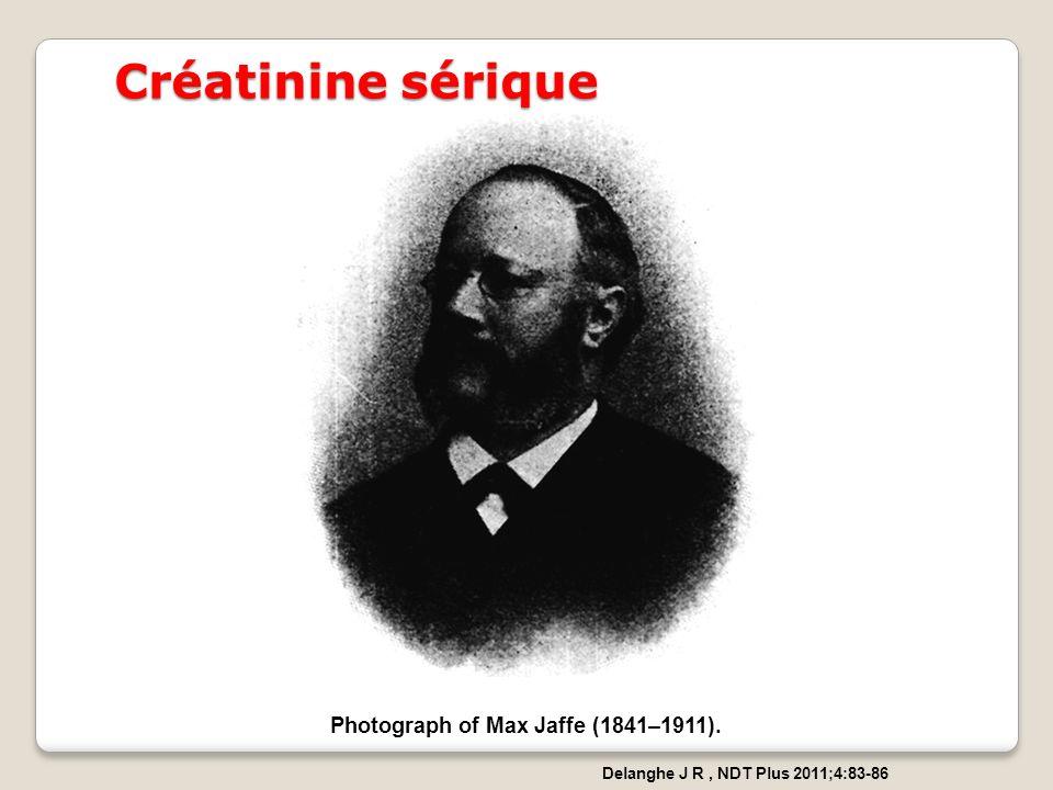Photograph of Max Jaffe (1841–1911). Delanghe J R, NDT Plus 2011;4:83-86 Créatinine sérique