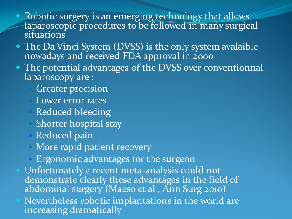 OUR OWN RESULTS OF ROBOTIC UNILATERAL ADRENALECTOMY DURING THE PERIOD 2001-2007 (1) Patients characteristics