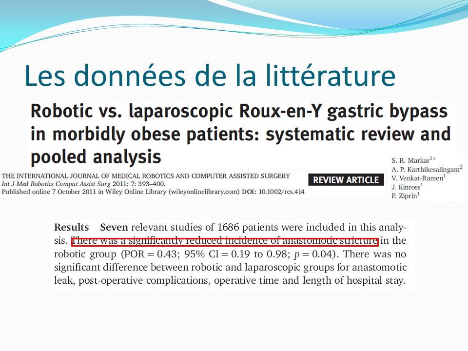 Les données de la littérature