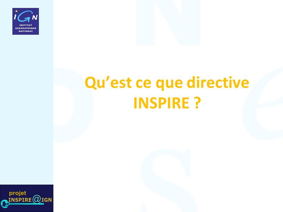 Quest ce que directive INSPIRE