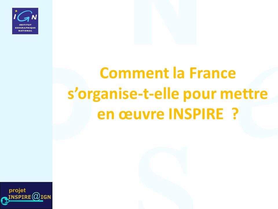 Comment la France sorganise-t-elle pour mettre en œuvre INSPIRE