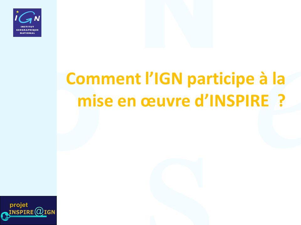 Comment lIGN participe à la mise en œuvre dINSPIRE