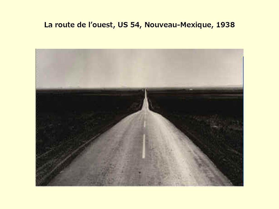 La route de louest, US 54, Nouveau-Mexique, 1938