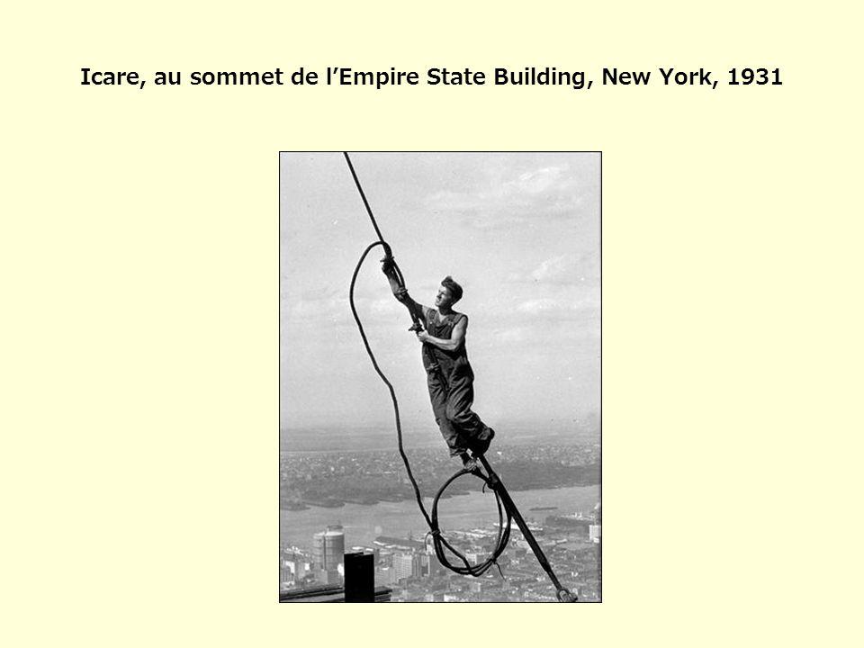 Icare, au sommet de lEmpire State Building, New York, 1931